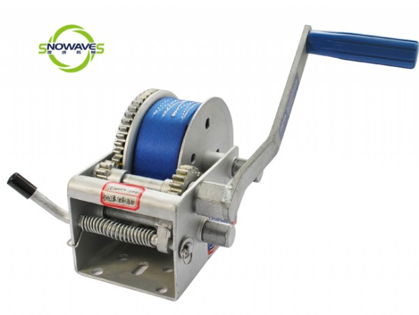 2000LBS HAND WINCH(WEBBING) DACROMET WITH REMOVABLE HANDLE
