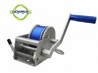 1500LBS HAND WINCH(WEBBING) DACROMET WITH FIXED HANDLE(SW1500W DACROMET FIXED)
